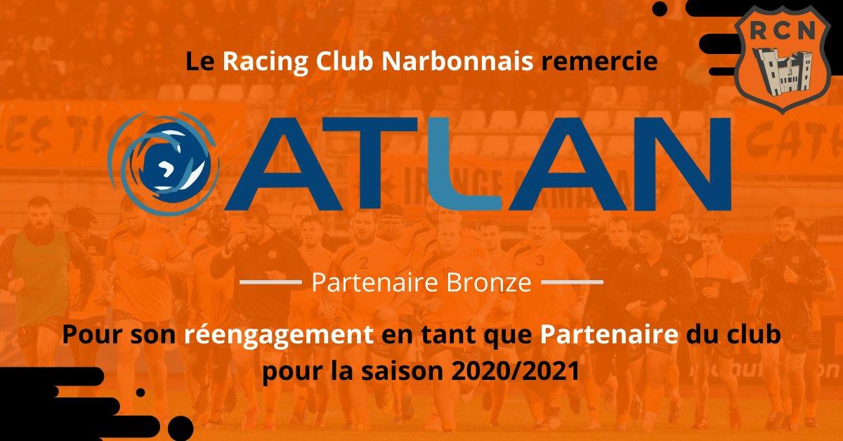 PARTENARIAT 📝  Le Racing Club Narbonnais remercie l'entreprise ATLAN...