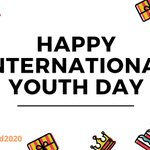 Image for the Tweet beginning: Happy #InternationalYouthDay! This years focus