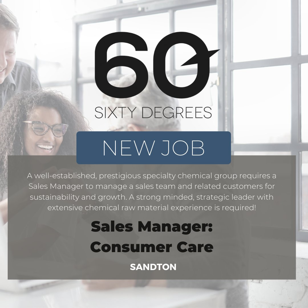 test Twitter Media - New #JobAlert - Sales Manager - Consumer Care in Sandton  https://t.co/DjO7UIJsc1  #60Degrees #60DRecruiter #60Droles #salesmanagers https://t.co/LM3NUc5lhY