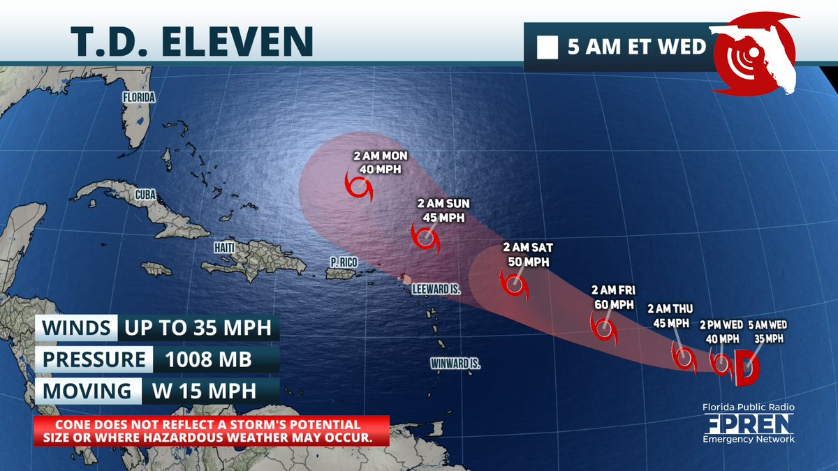 Florida Storms On Twitter Td Eleven Is Now Expected To Become Tropical Storm Josephine Later Today According To The Latest Update From The National Hurricane Center The Forecast Track Of The System