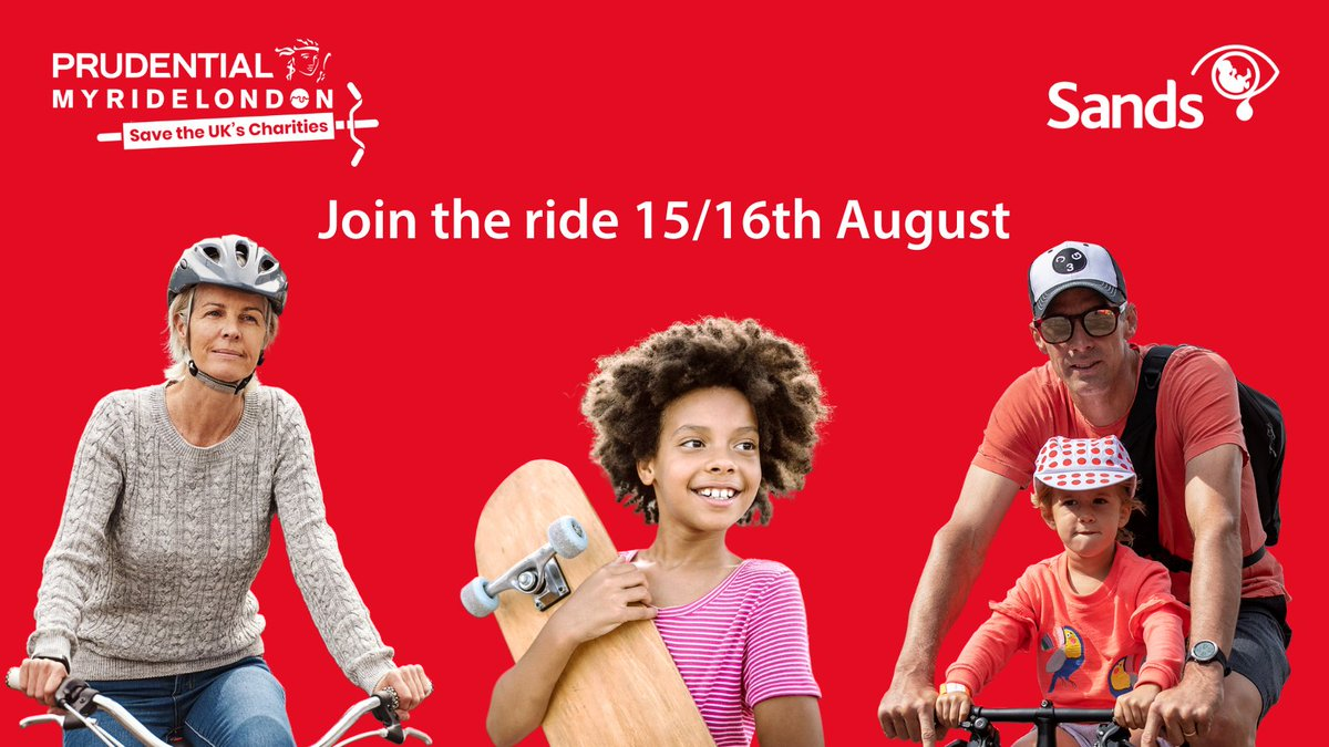 We're just days away but there's still time to register, take part and help Sands at @RideLondon this weekend  You choose your challenge and can cycle alone, with family or with your cycling club   Find out more 👉 https://t.co/DLFs7xEmTx  #MyPRL #RideLondon https://t.co/Wq0unwRlUk