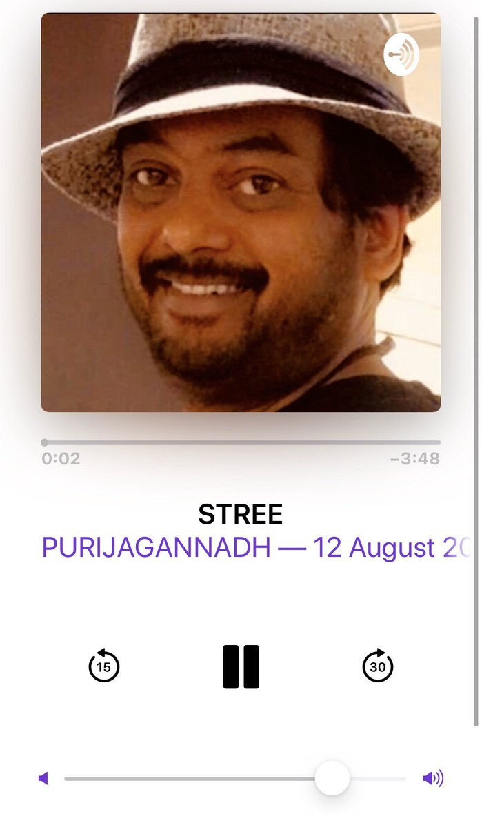 Poori garu !  What amazing topics and  true hard  hitting personal opinions in  your podcasts . Amazing.  Personal loved it . My heartfelt genuine love for you & I wish for more  beautiful  topics like these . Love . Bunny  . @purijagan https://t.co/v8HtSWbouf