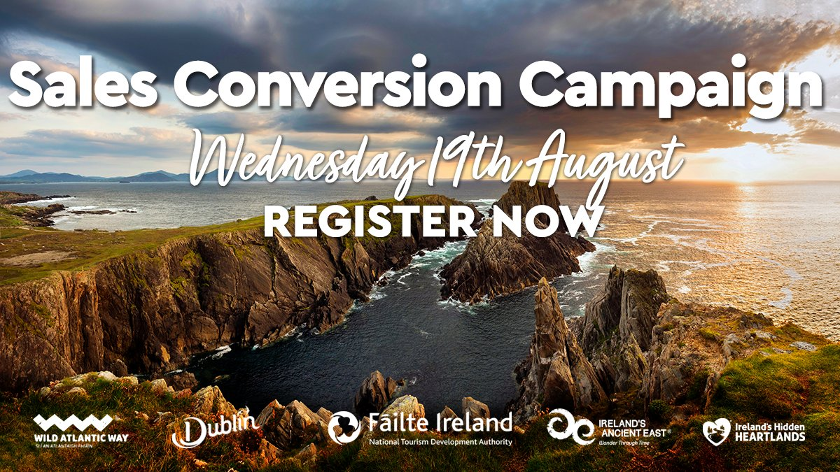 REGISTER TODAY   Fáilte Ireland has partnered with @Tripadvisor, @SuperValuIRL and more on a new online sales campaign to drive domestic holiday bookings.   #Tourism businesses can attend our sales #Webinar on Wed 19 August to learn how to get involved. 👉https://t.co/qKX30rfpDK https://t.co/3Q3frFjZqj