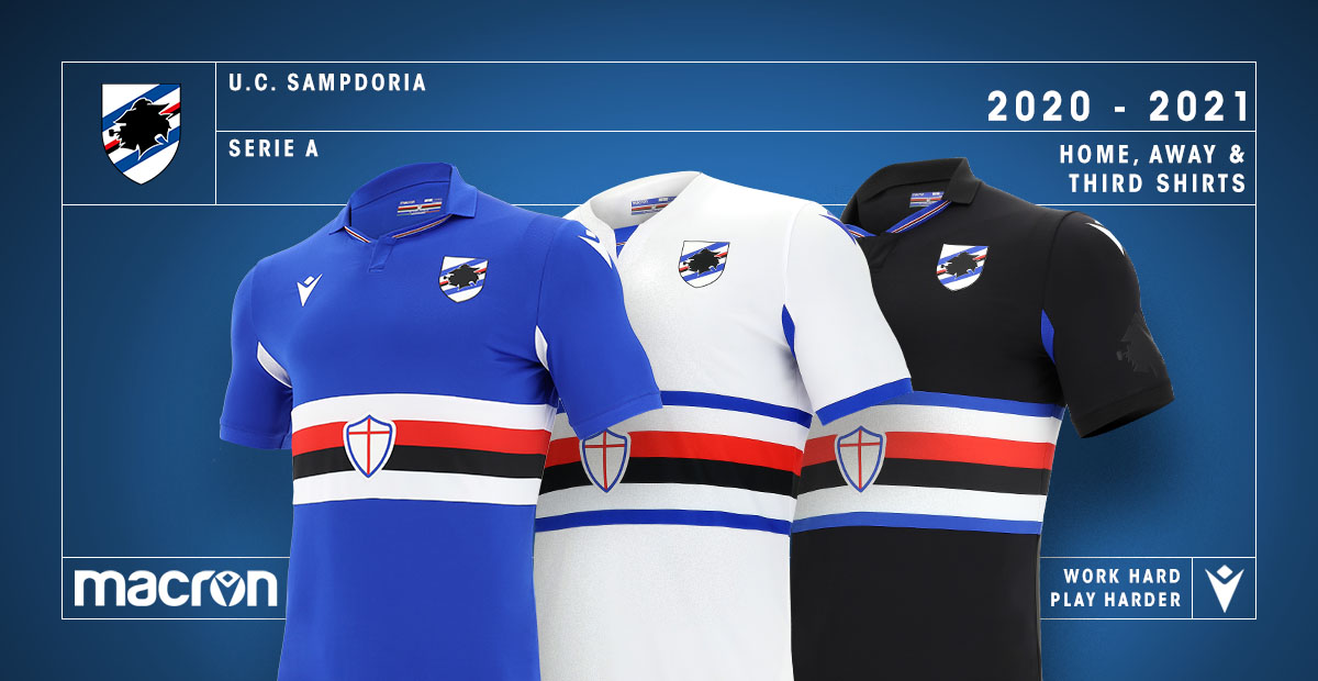 Macron On Twitter Introducing The Brand New Shirts Of Sampdoria For The 20 21 Season Shop Now Https T Co Ldbl53hcqg Workhardplayharder Https T Co Oh7csm2jh4