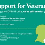 Image for the Tweet beginning: Our next Veterans lifestyle course