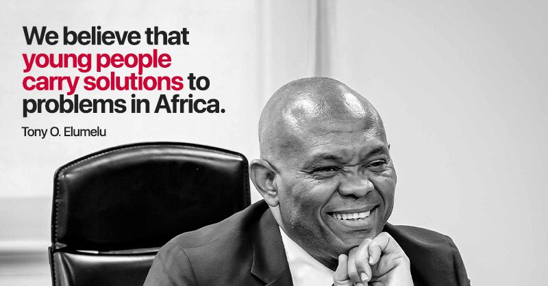 """""""Our youth population has the potential to create businesses that will contribute to economic growth&create jobs for millions of other African youth""""- @TonyOElumelu  You are not too young to innovate & share the solutions you carry.  You are at the heart of our service #YouthDay https://t.co/5cDJ4JzsU9"""