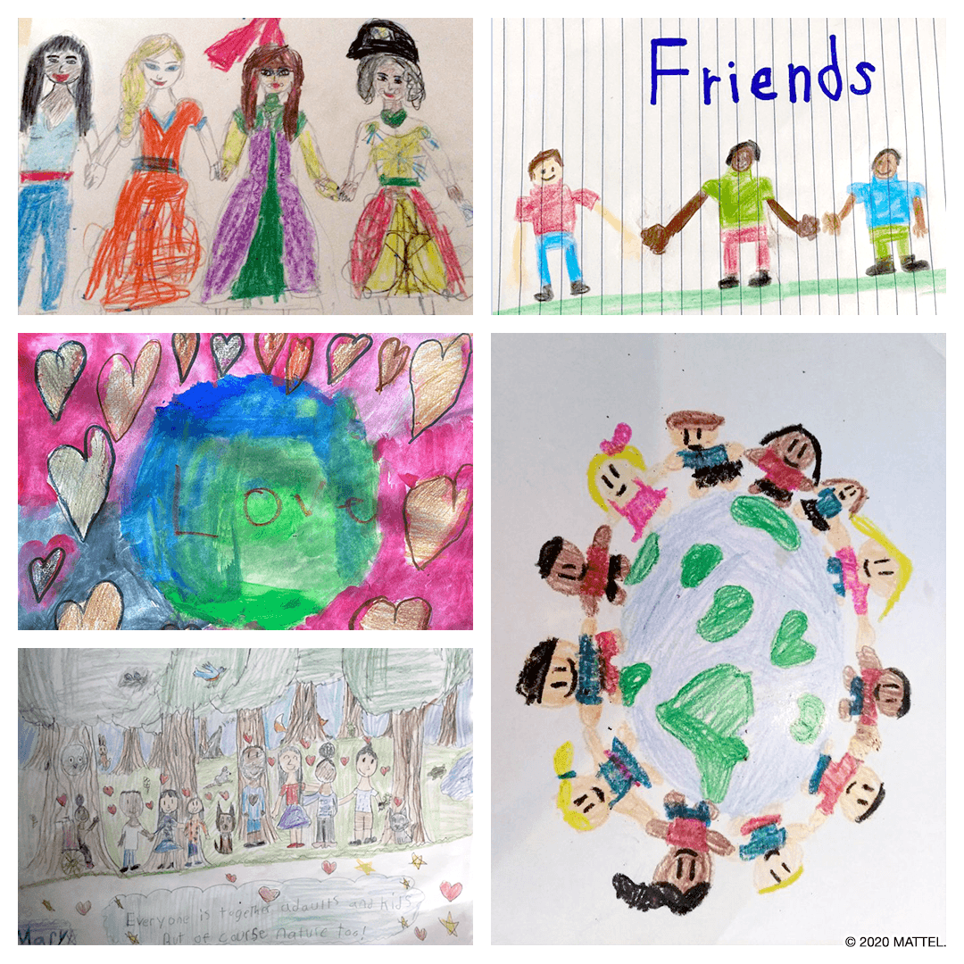 To celebrate #InternationalYouthDay, were sharing drawings of hope and love from the Mattel Toy Testers.