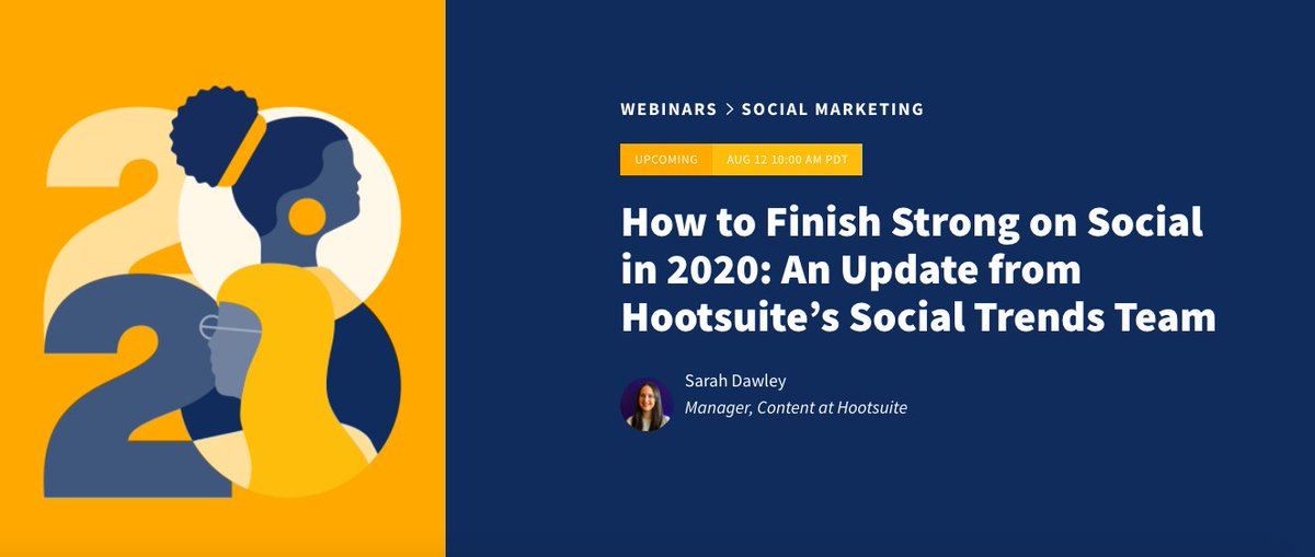 🚨 Webinar Alert! 🚨   Kicking off in 30 minutes, our social trends team is sharing how you can finish strong on social in 2020.    Sign up to view here. https://t.co/dPqpnNARzY https://t.co/xtMAOwI9Wd