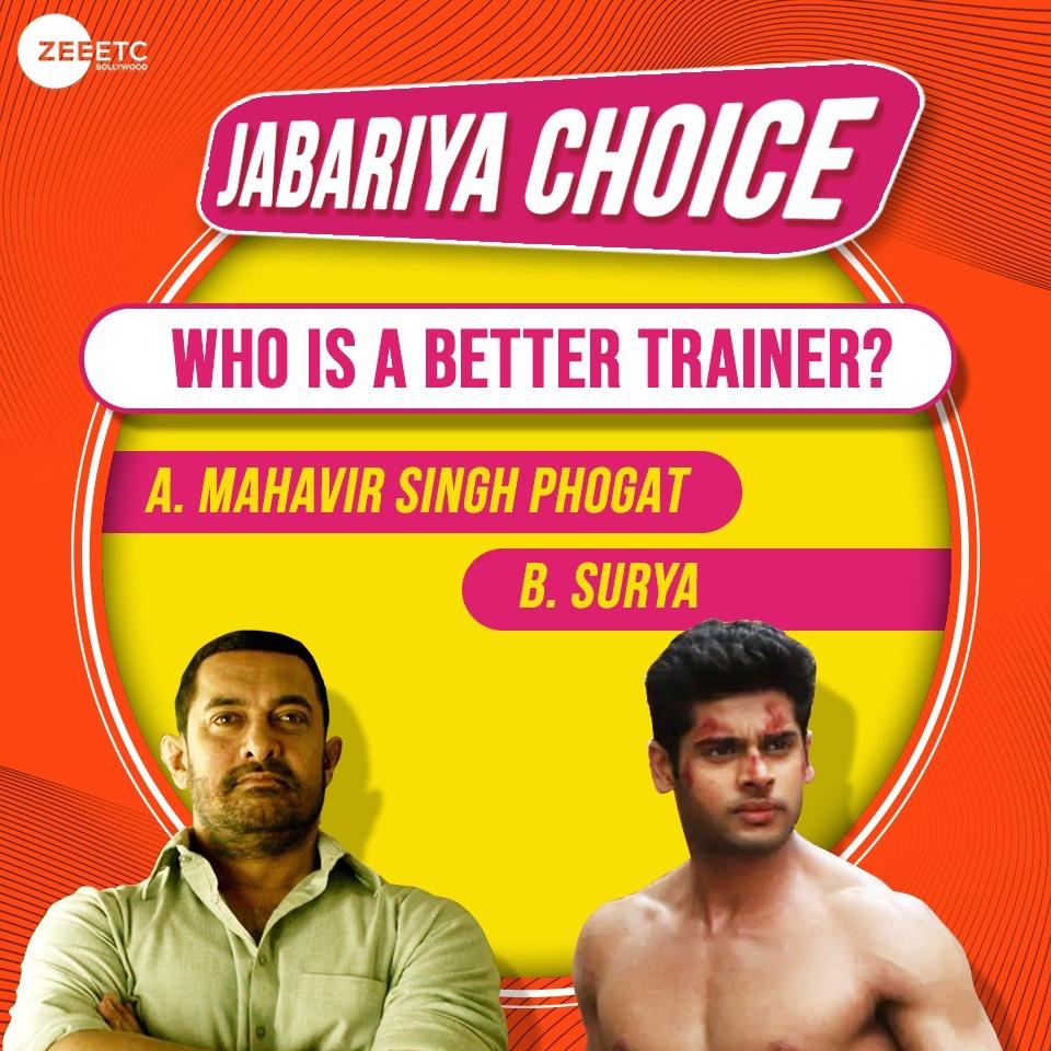 Karoge dhangal ya fir karate chop? Comment below. @aamir_khan  #JabariyaChoice #Bollywood https://t.co/jdu5dJ1wBH