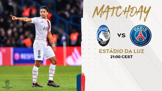 MATCHDAY @ChampionsLeague 🏆 #ATAPSG 🗓  Quarter Final 🆚 @Atalanta_BC 🇮🇹 🔴🔵 #WeAreParis https://t.co/6Mbh30vvMv