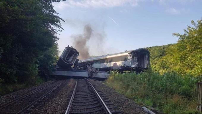 Treno deragliato in  Scozia