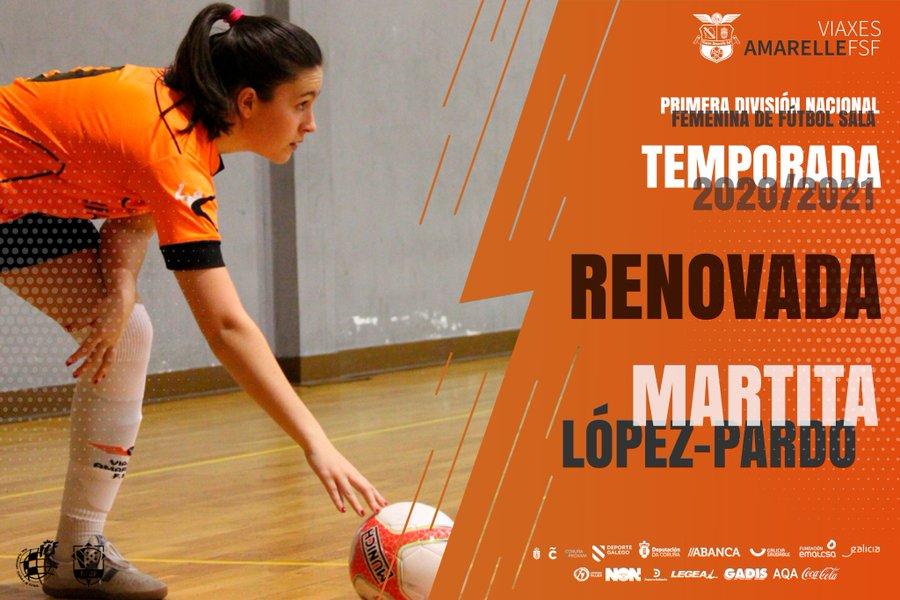 El Viaxes Amarelle FSF de Primera División sella la renovación por una temporada más de Martita López-Pardo