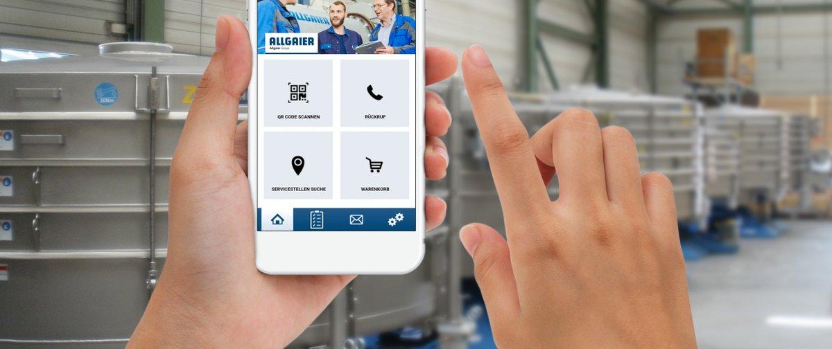 Conoce Service2Go, la nueva app de Allgaier Process Technology para solicitar piezas de repuesto en línea o contactar con el servicio técnico a través de la función devolución de llamada.  Para más información visita https://t.co/X0kdTa39ml  #Allgaier #processtechnology #app https://t.co/ZWLKOXOQIy
