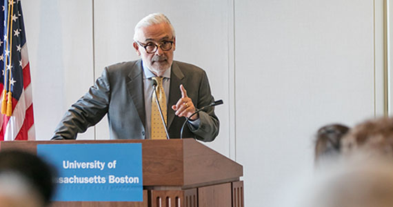 Welcome to New England, Chancellor Marcelo Suárez-Orozco!  #UMassBoston is one of the  institutions that participates in #tuitionbreak - helping students from out-of-state within New England access programs while paying lower tuition.