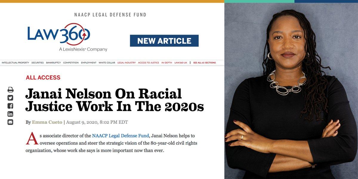READ: LDF Associate Director-Counsel Janai Nelson (@JNelsonLDF) in @law360.  https://t.co/sWOcLzYtLh https://t.co/wuH3gHER2Q