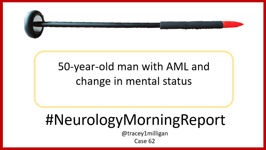 #NeurologyMorningReport #NMR Case 62 #MedTwitter #NeuroTwitter Updates & Answers posted later today. Asking your help #MedEd #neurology #neurologyresident #neurologist #medstudent #NeurologyProud #MedStudentTwitter Join me in educating. Share your questions and knowledge. 1/