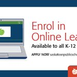 Image for the Tweet beginning: Online learning delivered by Saskatoon