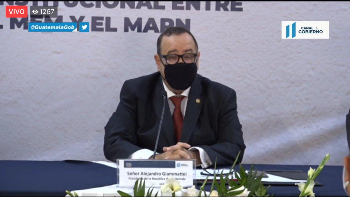 test Twitter Media - El presidente Alejandro Giammattei asiste a la firma de convenio entre el Ministerio de Energía y Minas y el Ministerio de Ambiente para la implementación de la Ventanilla Única de la Dirección de Gestión Ambiental y Recursos Naturales. https://t.co/Ixuyukz9wn