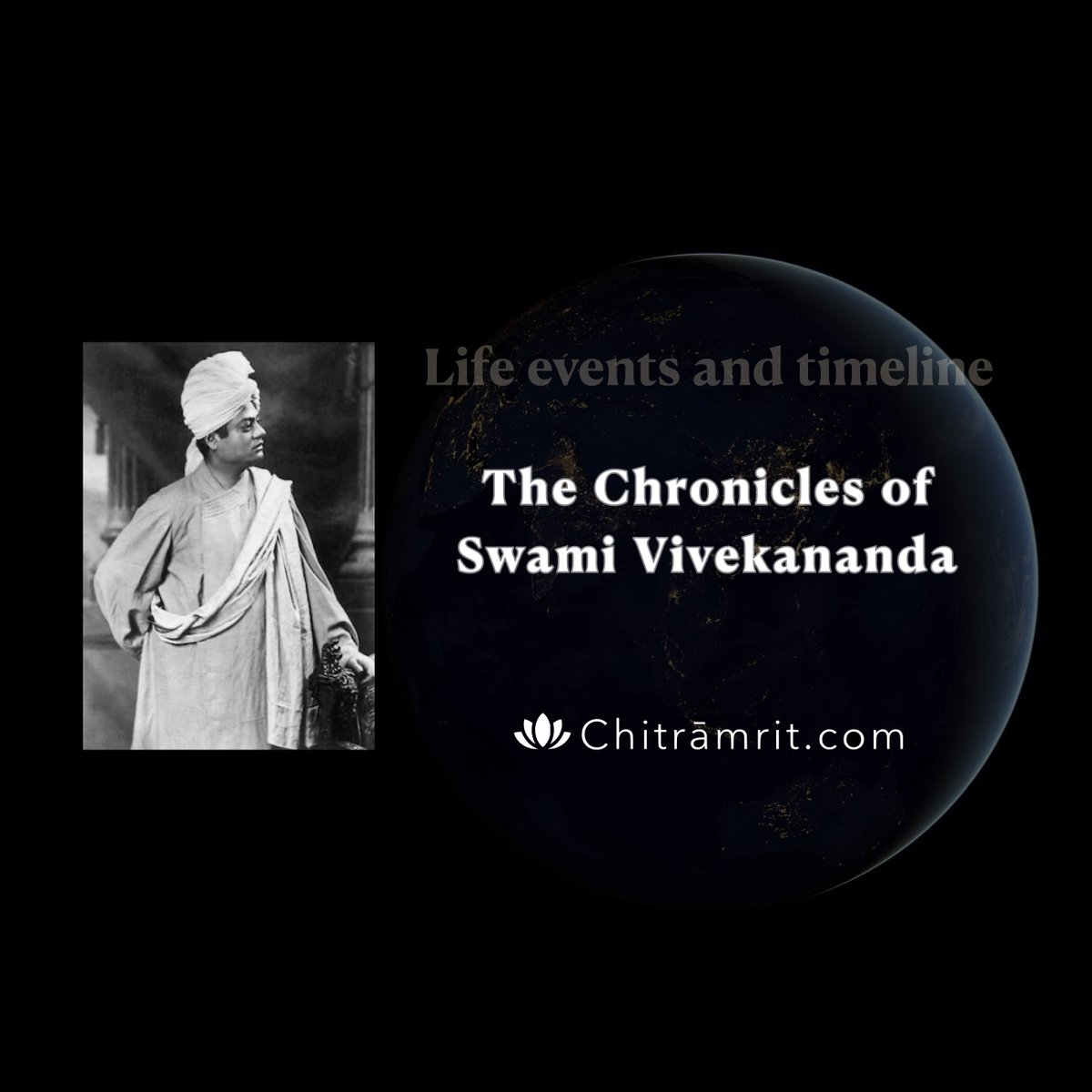 'The Chronicles of Swami Vivekananda'. Chitramrit presents, a detailed chronological compilation of the inspiring life of #swamivivekananda. https://chitramrit.com/mainpages/chrono-swamiji-index/ …pic.twitter.com/ntZBWRgFOX