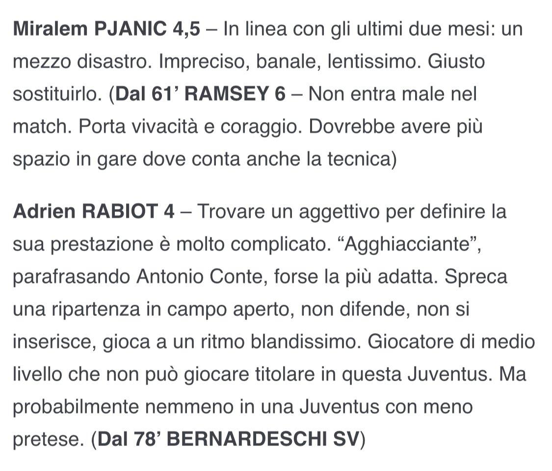 @francescoargon1 @NoireButterfly_ @juventusfc Ha sbagliato #Sarri la formazione dell'andata. Con #Pjanic e #Rabiot eravamo 2 in meno, quando è stato fuori #DeLigt a farsi soccorrere abbian preso goal. Questi i voti di allora 👇👇 https://t.co/7iSFrJDlFX