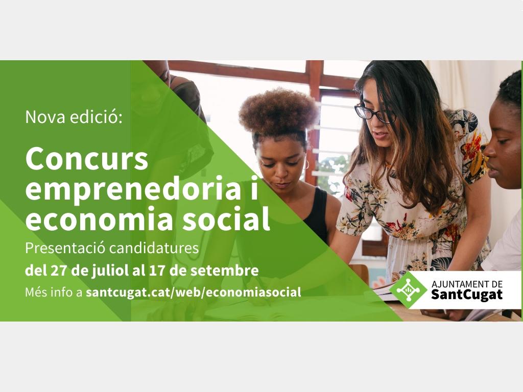 ✅ Nova edició del concurs per a propostes d'#emprenedoria social sota el format de l'economia social i/o cooperativa ♻️  📆 Fins al 17 de setembre  👉 Consulta les bases a https://t.co/rEbXDSDB3m  #laCiutatEndavant
