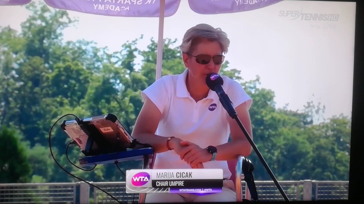Glad to see MC in the chair today for Giorgi vs Mertens..... don't you  @Rafalution19 ?!? 😉👍😁🎾💕 https://t.co/vKmtRouHdr