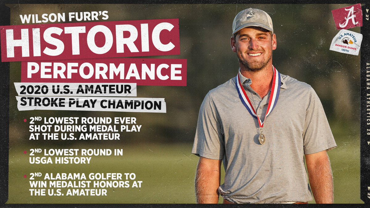 We stand corrected! With apologies to @Bobby_Wyatt (who was the 2012 #USAmateur stroke play medalist at Cherry Hills), Wilson Furr is the second #Alabama mens golfer to claim medal honors! Congratulations to both Crimson Tide golfers! #RollTide twitter.com/AlabamaMGolf/s…