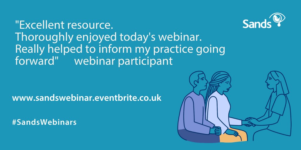 There are a few tickets remaining for the free Sands Webinar dates in August, visit here to book your place:  https://t.co/hf6LdrzTmK  #SandsWebinar #stillbirth #bereavement #neonatal #Learning https://t.co/gavr7wf16K