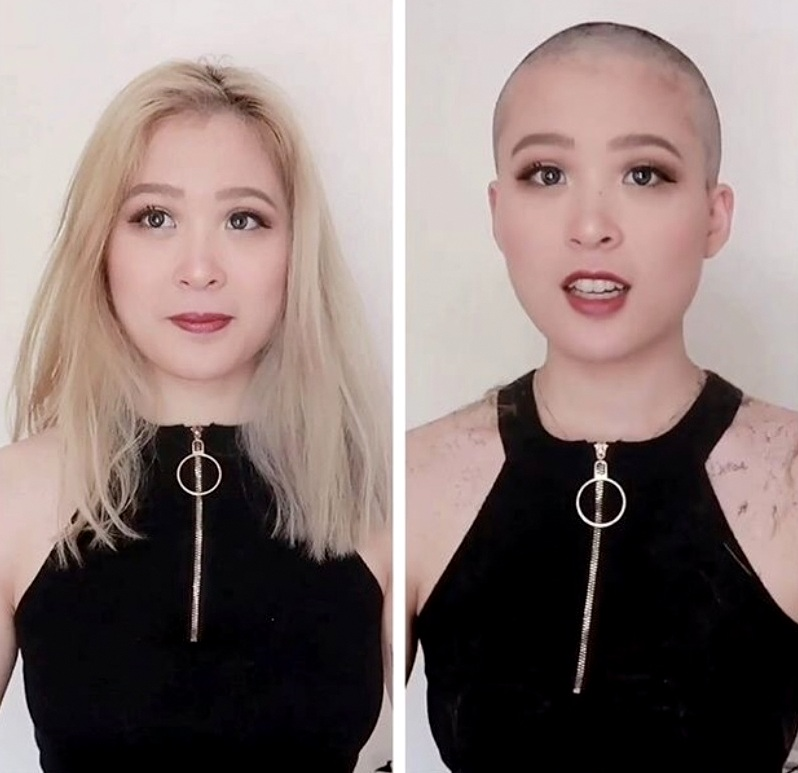 Before or After? #shorthaircutgirls #longorshort #lifetooshortforboringhair https://t.co/nWZVXbXrtq