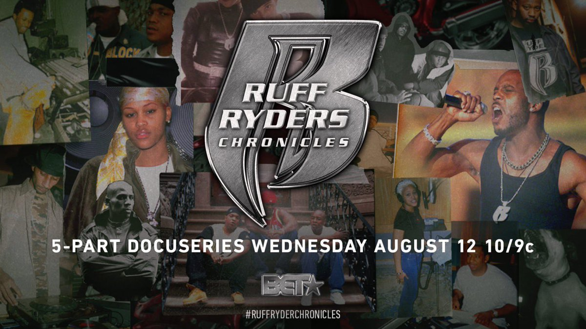 Tune in tonight for the premier of Ruff Ryders: Chronicles! 10/9c, on @ChroniclesOnBET @ruffryders 🐾🏍 #RuffRydersChronicles #ChroniclesOnBET