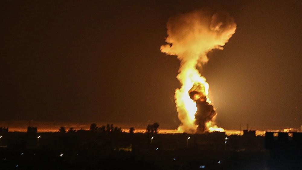 Israel attacks Hamas targets in Gaza over fire balloons
