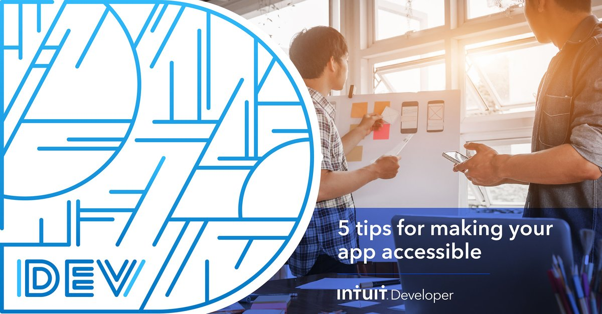 Ensuring accessible product development is the responsibility of all designers and developers. @ted_drake shares 5 tips to make your #IntuitApp more accessible: https://t.co/lkzS6K0DGH https://t.co/G5tgeywKlO