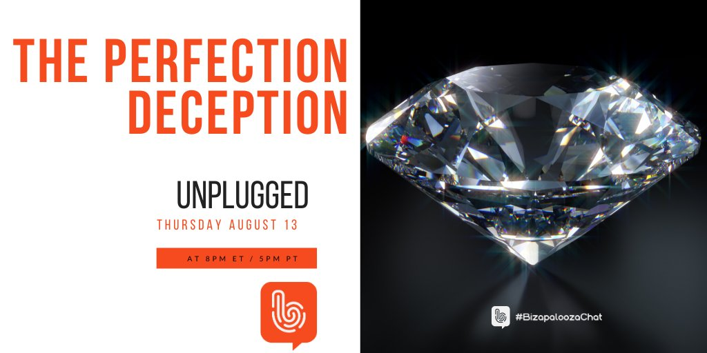 What are some ways for a person to deal with someone who is perfectionist?  Join us this Thursday on #BizapaloozaChat UNPLUGGED to discuss: The Perfection Deception!   See you, 8/13 at 8pmET/5pmPT. #businesstips #entrepreneurship #leadership #relationships #teamwork #growth https://t.co/QwhpfywQUP