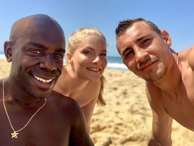 1 pic. Awesome day at the nude beach today, shooting with @JossLescaf & @NinosPaoli New videos are coming