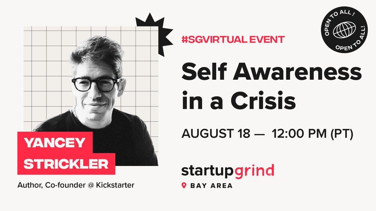 Come one, come all to our workshop led by @YStrickler!  This workshop open to everyone who wants to wants to learn how to make decisions and consistently act in ways that are in integrity with who you most deeply are – even when the world is falling apart. https://t.co/JGsCTSVEQs https://t.co/wMyv13Xfz3