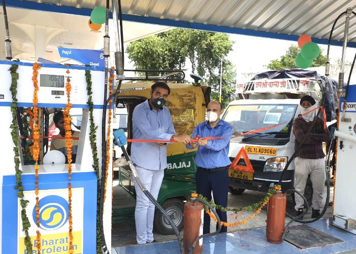 #BPCL inaugurates its first CNG station in #Rohtak, #Haryana today., taking our all India network to 15 CNG stations till date. Our commitment to environment friendly fuel! https://t.co/32yt1icxXT
