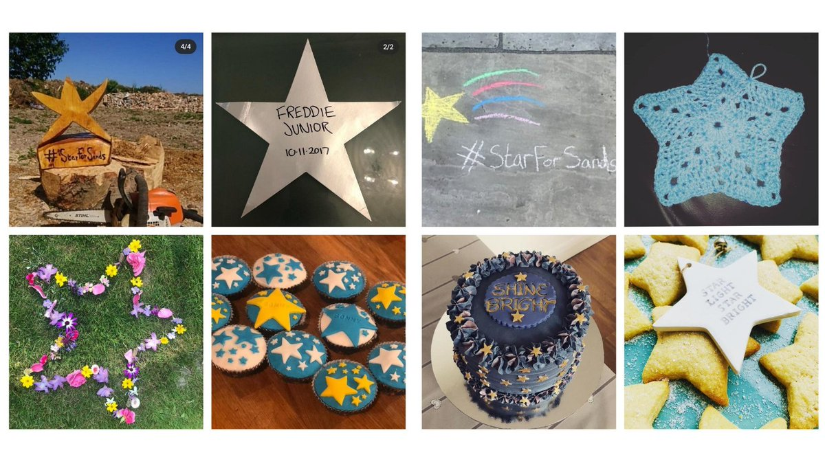 We love seeing beautiful stars many of you created in memory of your babies 🌟  Join in 👇 🌠 Create your star of remembrance 📷 Snap a photo #️⃣ Tag #starforsands 📱 Text STAR to 70450 & donate £5 ✔️ Nominate 5 others to do the same  https://t.co/ARmWofpdEb  #SandsOnAMission https://t.co/r37Kim3pAo