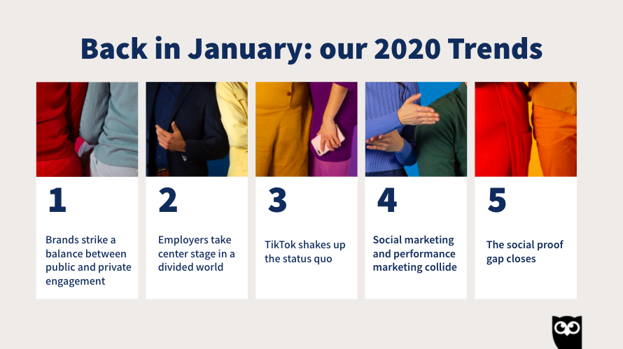 Let's have a look back. What were our predicted trends back in January? #HootEssentials https://t.co/JSMLW6bk7X