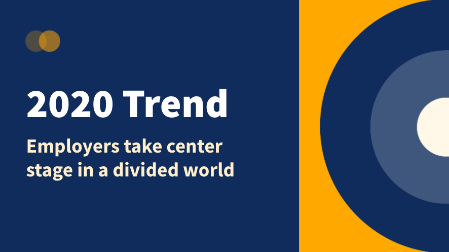 Let's chat about this trend: Employers take center stage in a divided world.  What does that mean to you? #HootEssentials https://t.co/AoRu8cze4g