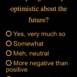 Image for the Tweet beginning: Optimistic? Or not? POLL: VOTE NOW: