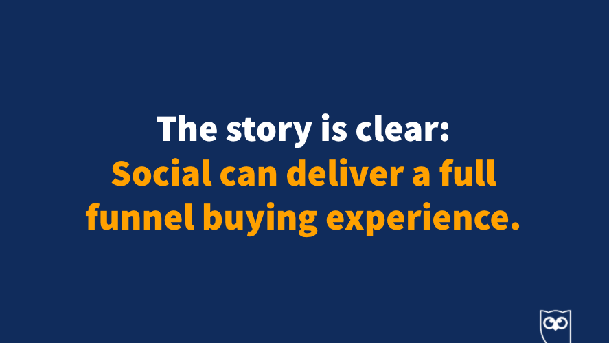 Social can deliver a full funnel buying experience. You can do it too 👏 #HootEssentials https://t.co/k8U1EWjQWC