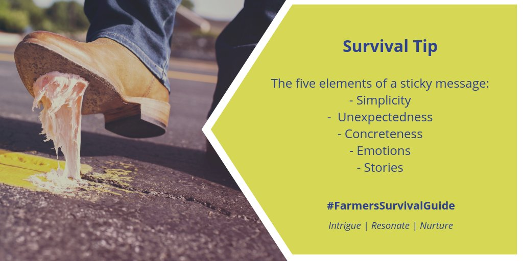 To help your listener or reader remember your information try the Heath brothers' recipe for message stickiness.  #FSGtip #farmtoconsumerconvo #CdnAg #communication https://t.co/Vhqz0NtFYN