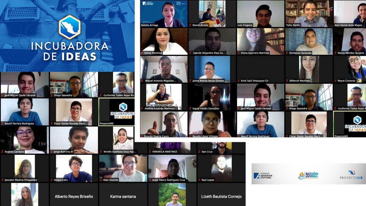 🥳😎 ¡Seguimos celebrando el #DiadelaJuventud!   Como parte del #ProyectoMX💡🇲🇽: 👉#IncubadoraDeIdeas, llevamos a cabo nuestra segunda sesión para hablar sobre políticas públicas con @TonoPatino, quien compartió sus conocimiento y experiencias.  #KASMéxico 🇩🇪🤝🇲🇽 @AccionJuvenil https://t.co/V4VIkJ8gxn