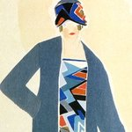 Image for the Tweet beginning: Dress design. Sonia Delaunay. c.1925.