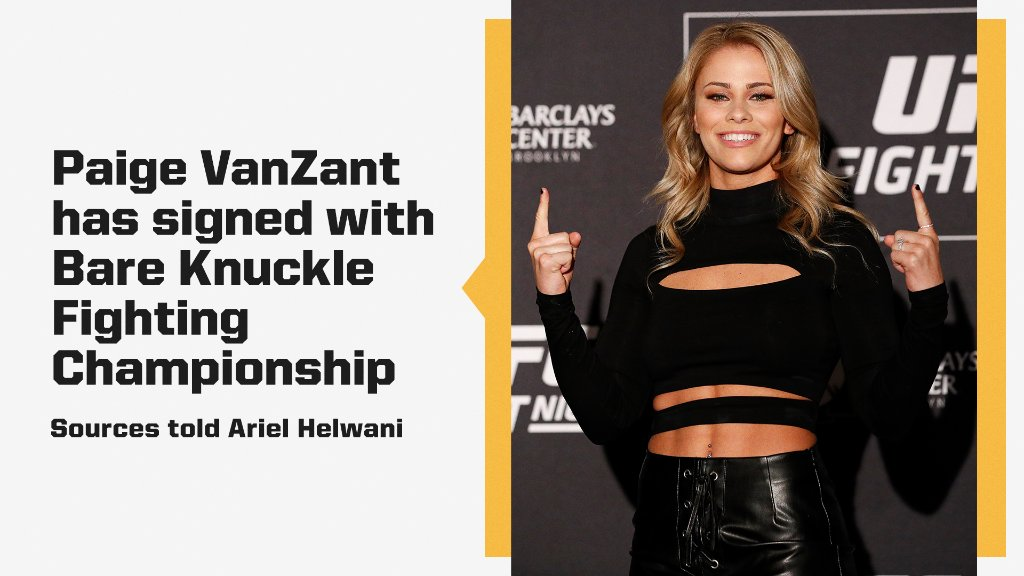 Former UFC fighter @PaigeVanZant signs with BareKnuckle Boxing 👊  (via @ArielHelwani) https://t.co/gT5A3inN1I