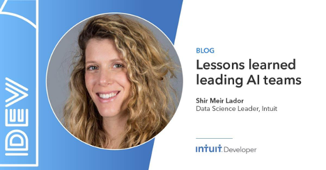 One of the most important parts of @shirmeir86's job is recognizing whether a problem is suitable for an #AI solution. See how Shir has turned her passion into solving some of our customer's most complicated problems. Read now > https://t.co/HOqLbrADLA #IntuitTech https://t.co/3MDX00OGu6