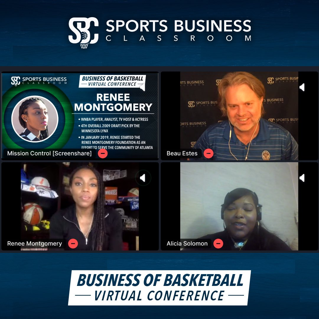 WNBA player, analyst, TV host, & actress @itsreneem_ kicks off day 3 of AMA sessions🔥  Shout out to Alicia (@Ace_S5)ace for asking a great question encompassing the business of basketball.🏀👏  #sbcvirtualconference2020 https://t.co/ZZYJweJcKS