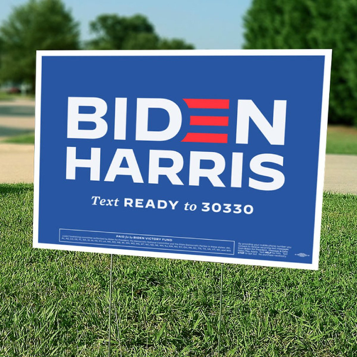 For the record and I admit, I was meh, meh, meh about Kamala. I thought Joe was boxed in gender-wise, and it was unfair that the outstanding Adam Schiff could not even be considered. Now, consider me convinced. All in. Just ordered this for my yard. #BidenHarris2020Landslide