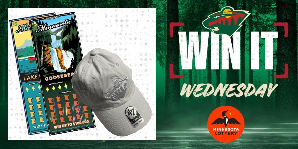 ✨ Say I'MN to #WinItWednesday. ✨  RT for a chance to win a #mnwild hat, $50 in @mnlottery scratch 🎟 and more!  Rules: