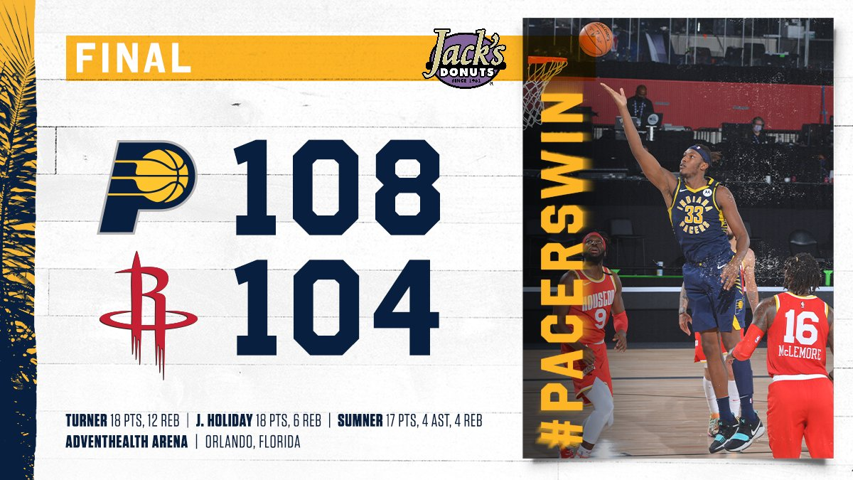 Playoff matchup set 👀  BEAT THE HEAT  #PacersWin x #IndianaStyle https://t.co/PqvlpfQjEz